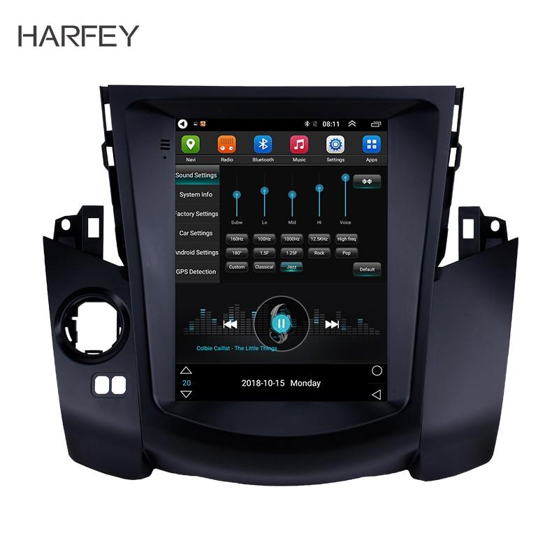 Harfey Car GPS Nav Radio Unit Android 6.0 for 2008 2009 2010 2011 Toyota RAV4 9.7 support Digital TV 1080P Backup Camera 4G LTE