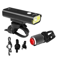 Gaciron Contest Level Bike Bicycle Light Handlebar Headlight + Taillights 5 Modes Wire Remote Switch 2500Mah Ipx6 Waterproof