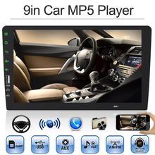 9in 1Din In-dash Bluetooth автомобильный стерео MP5 плеер AUX In FM радио головное устройство USB 2,0 рулевое колесо управление реверсивное Обнаружение