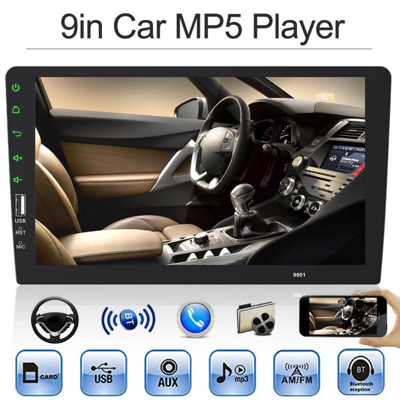 9in 1Din autoradio Bluetooth intégré au tableau de bord lecteur MP5 AUX en FM unité de tête de Radio USB 2.0 commande au volant détection d'inversion