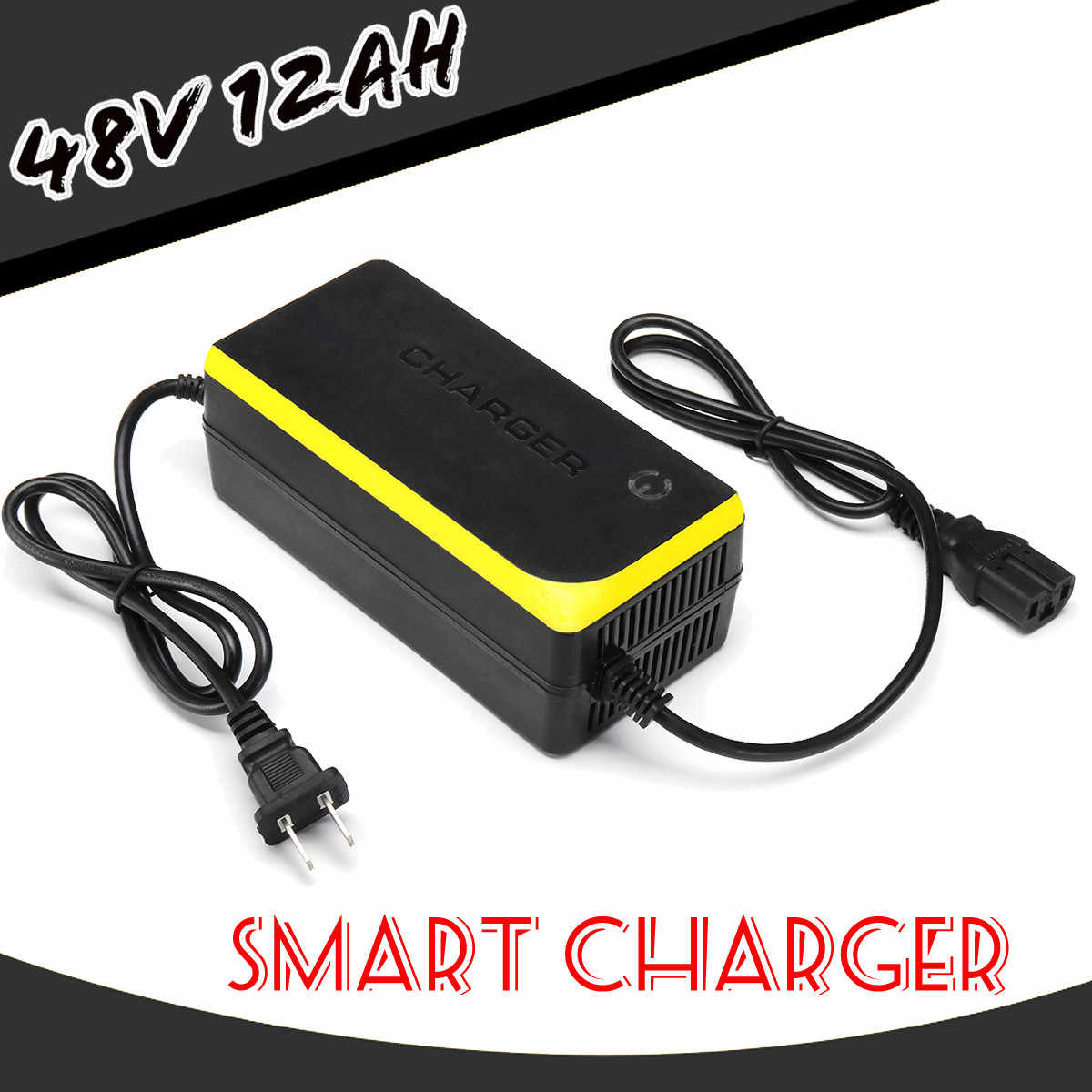 48V 12AH Lead Acid Battery Charger for Electric Bicycle Bike Scooters Chargers