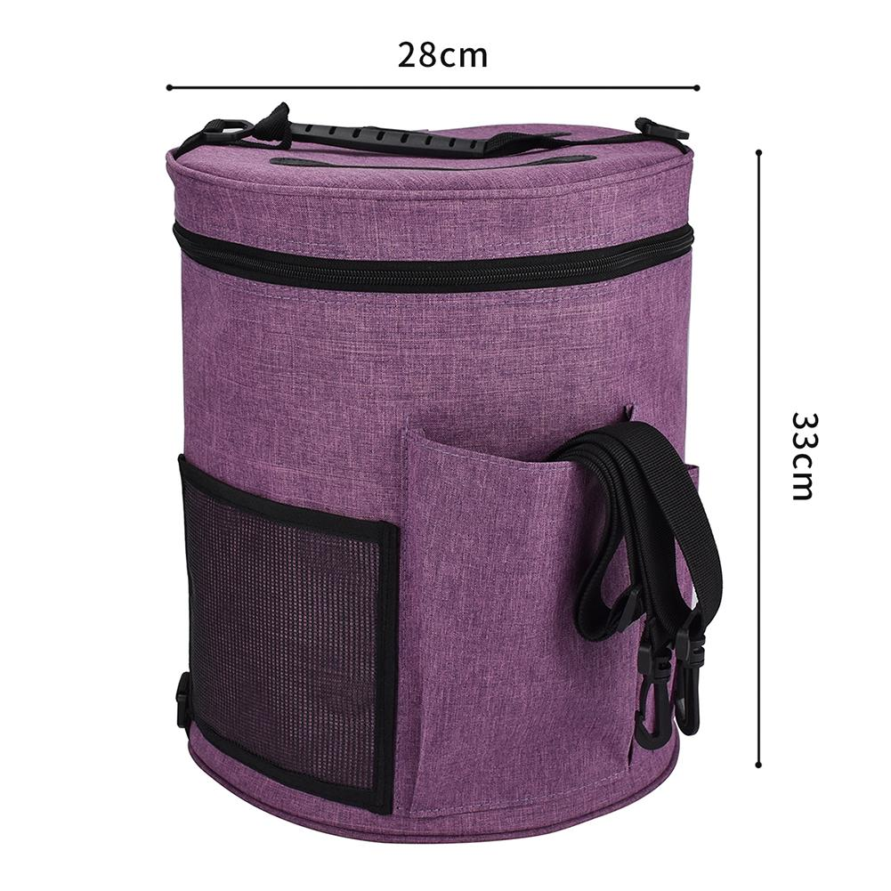 Crochet Bag Storage Bag Woolen Storage Bin Canvas Large Capacity With Zipper Closure External Pocket Design High Quality in DIY Apparel Needlework Storage from Home Garden