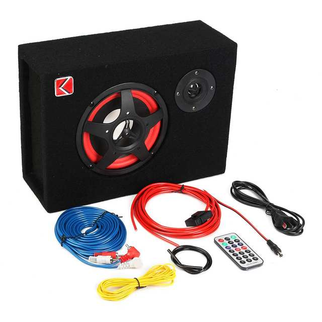 6 Inch 350W Under-Seat Car Active Subwoofer Speaker Stereo Bass Audio Powered Car Subwoofers Amplifier Active Subwoofer Car 1