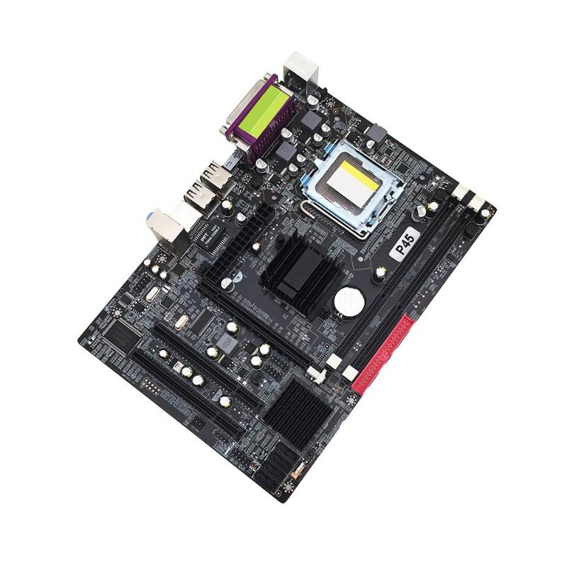 P45 PC ordinateur carte mère Support LGA 771 Quad Core double canal DDR3