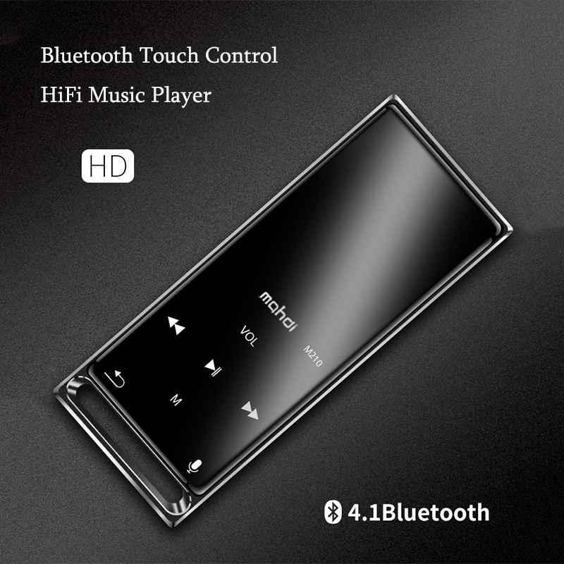 Mahdi M210 16G Bluetooth MP3 przenośny odtwarzacz 1.8 Cal muzyka HiFi odtwarzacz nagrywania wideo E-book formaty bezstratne Audio odtwarzacz cyfrowy