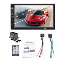 """1 PC Nuovo 7 """"2 Din Touch Screen Auto Lettore MP5 Bluetooth Stereo BT FM Radio USB AUX In con Videocamera vista posteriore"""