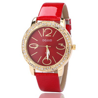 Couple Watch Fashion Trend On The Table Ultra Thin Business Simple Women'S Watch Bright Leather Enamel Diamond High End Watch
