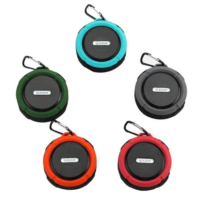 Outdoor Waterproof Stereo Bluetooth Loudspeaker with Mic