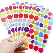 Пентаграмма прекрасные наклейки в альбом круглые точки RFID Блокировка Скрапбукинг этикетка украшение стикер школьные принадлежности дневник декоративный