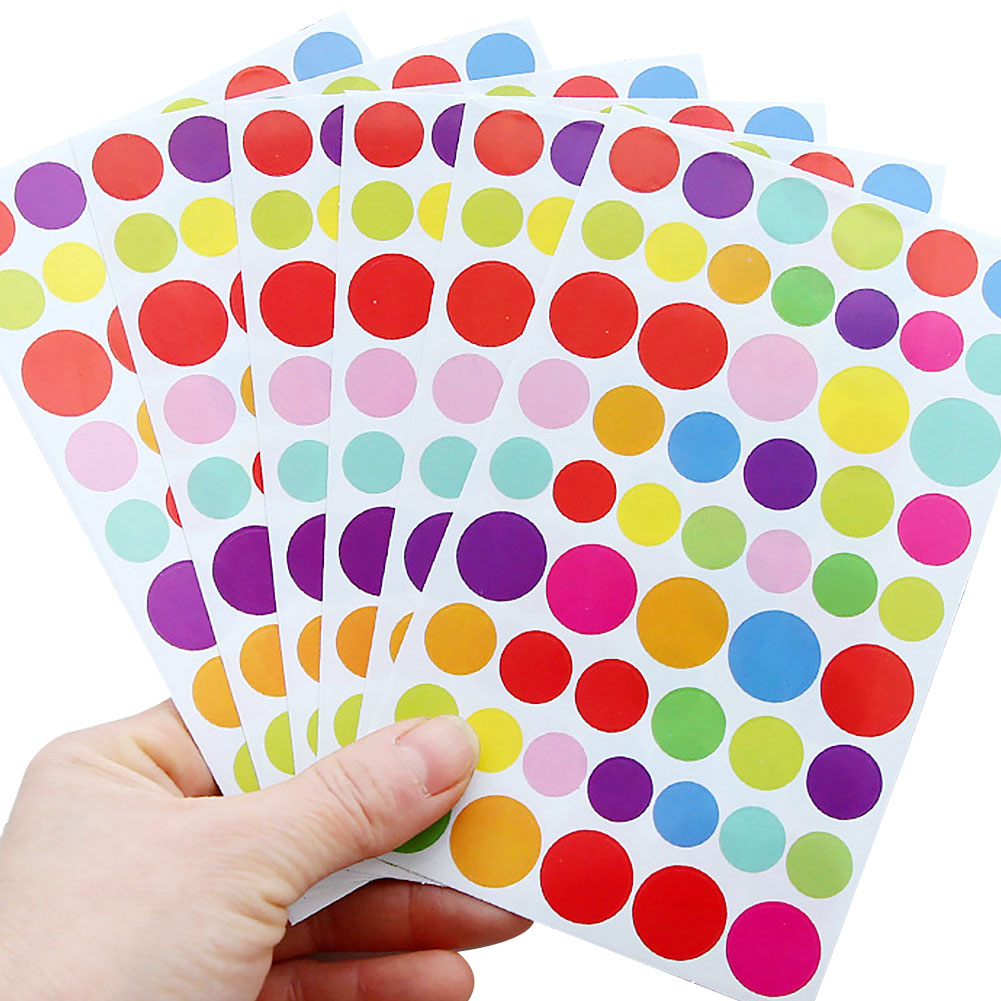 Pentagram Lovely Album Sticker Round Dots RFID Blocking Scrapbooking Label Decoration Sticker School Supplies Diary Decorative