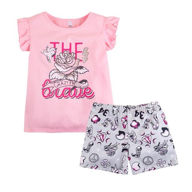 Пижама футболка+шорты для девочки ''Тату'' BOSSA NOVA 383Б-161р