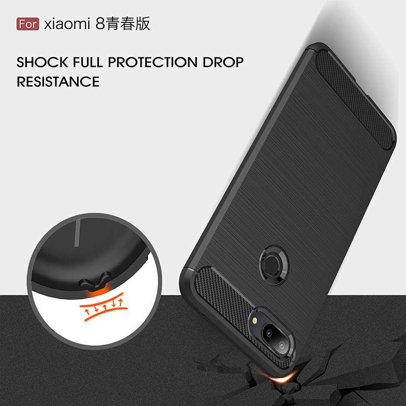 Mokoemi Fashion Shock Proof Soft Silicone 6 26 quot For Xiaomi Mi 8 Lite Case For Xiaomi Mi 8 Lite cell Phone Case Cover in Fitted Cases from Cellphones amp Telecommunications