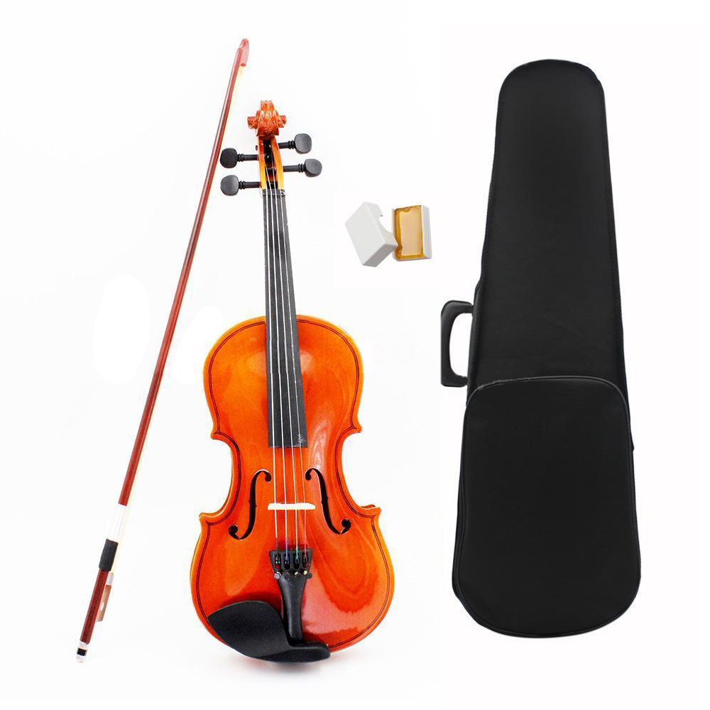 ADDFOO 1/8 Size Acoustic Violin With Fine Case Bow Rosin Bridge For Age 3-6 M8V8 Basswood Steel String Arbor Bow 5PCS/Set