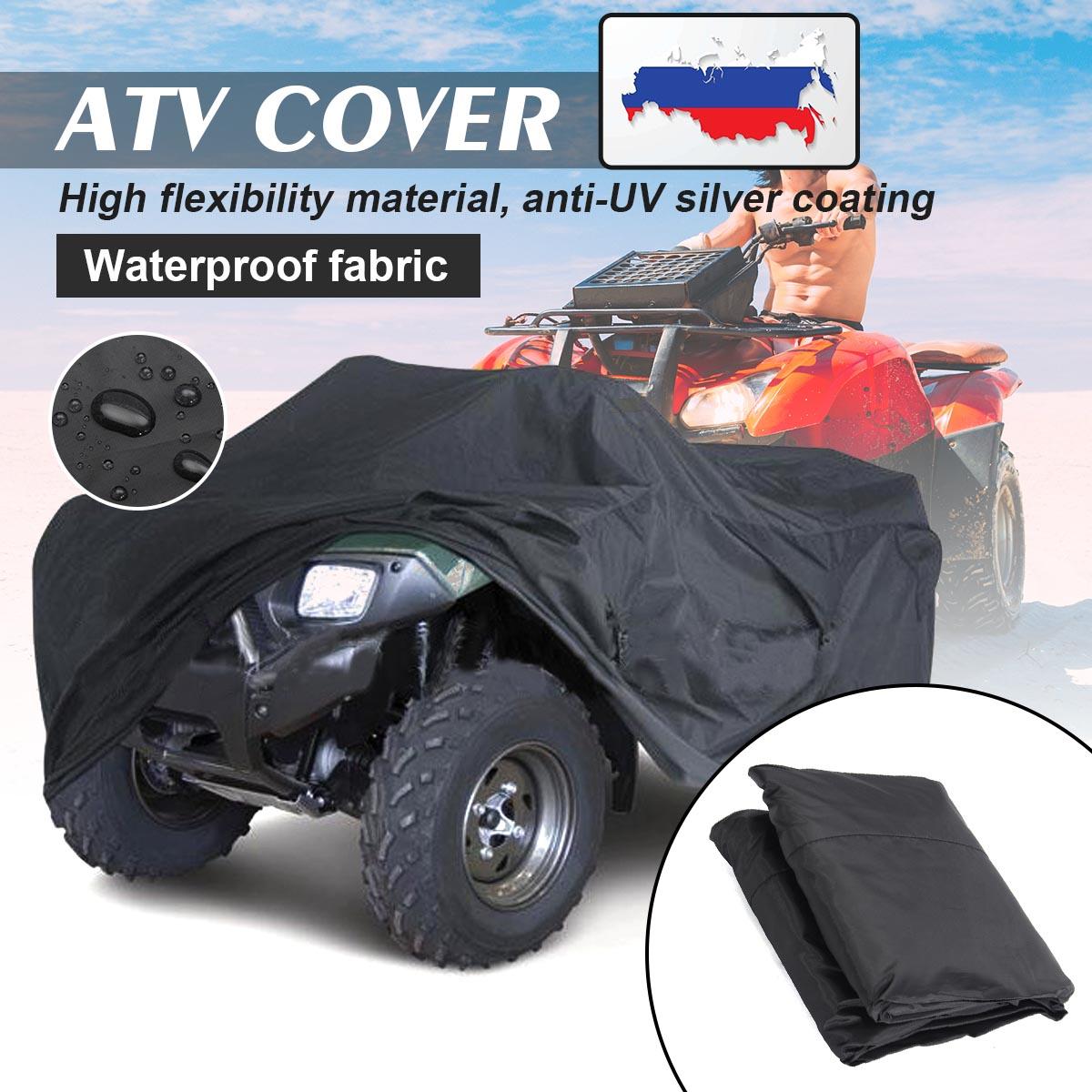 Negro Universal M/XL 190 T impermeable Quad ATV cubierta vehículo moto cubierta
