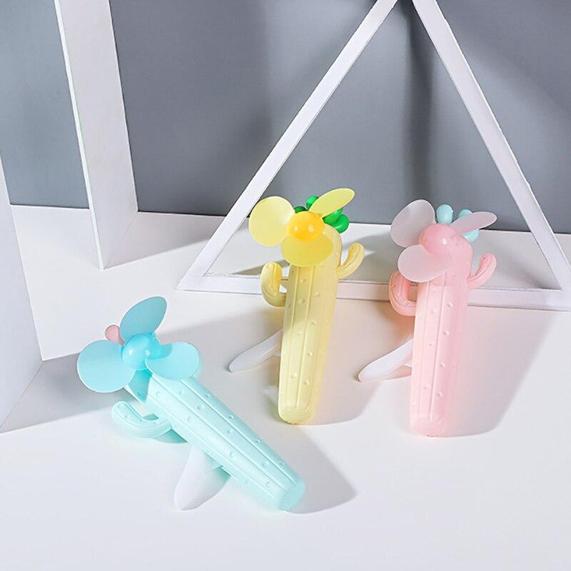 2019 Mode Hand Druck Fan Cartoon Umweltschutz Manuelle Kleine Fan Cool Tragbare Hand-gehalten Kinder Geschenke Mini Lüfter Haushaltsgeräte