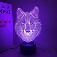 New Pattern Wolf 3d Small Night light Colorful Touch LED Vision Lamp Gift Decoration Small Desk Lamp Wolf USB Lamp