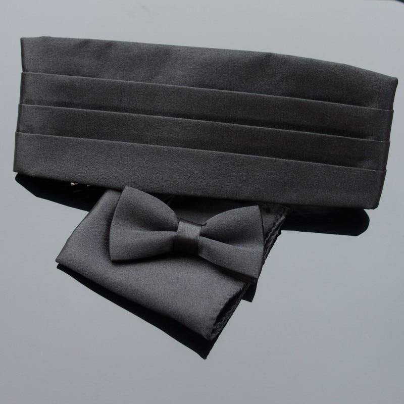 Premium Kid's Tuxedo Satin Children Cummerbund Bowtie Hanky Set Wedding Formal Prom Dinner Party Pattern Gravata Boy Necktie