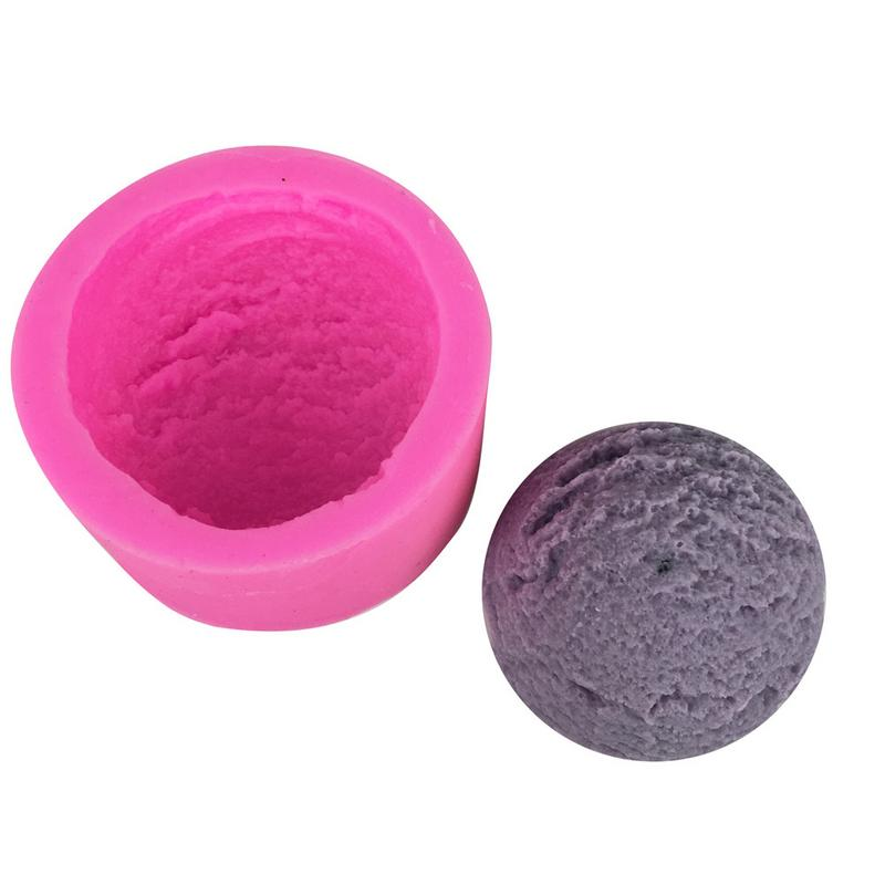 3D Ice Cream Ball Silicone Mold Ice lolly Mould Fondant Cake Mold Mousse Chocolates Decoration Random Color Kitchen Baking Tools in Cake Molds from Home Garden