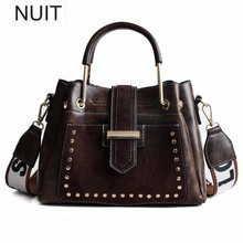 Wide Straps Rivet Handbag Brand Fashion Women Shoulder Bags PU Leather Casual Female Tote Messenger Bag Ladies Hand Bags