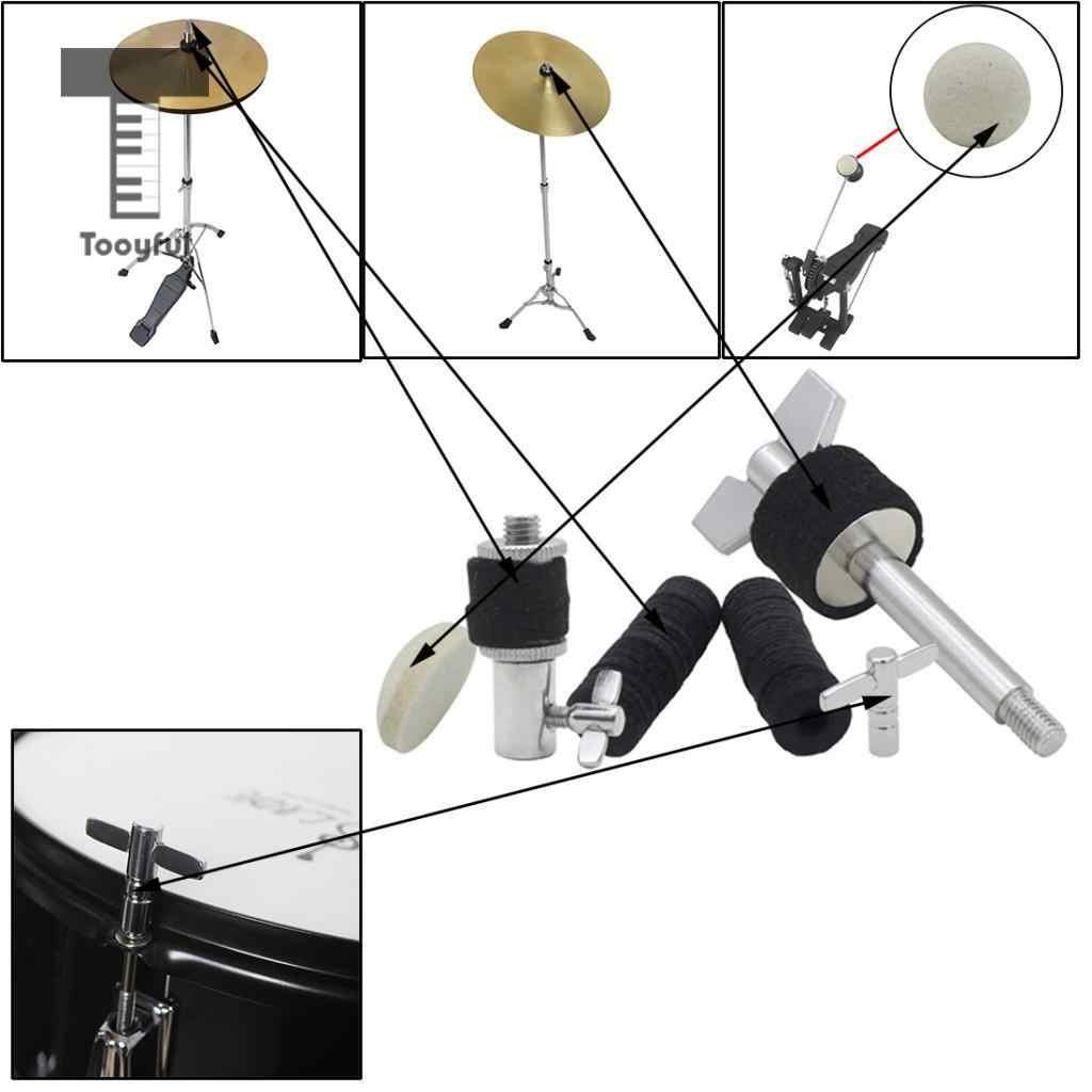 Tooyful Drum Kit запчасти Hi-hat винт + ключ барабана + Cymbal сцепление + педаль молоток для отбивных головок + Cymbal войлочные прокладки