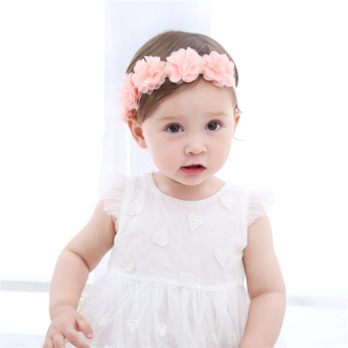 Emmababy Elastic Baby Headband Girls Soft High Stretch Baby Hair Accessories Pink Cute Lace Elastic Band Baby Girl Headbands