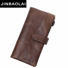 2017 New Men Wallets Fashion Wallet Men Purse Clutch Bag Brand Leather Wallet Long Design bag gift for men carteira brown wallet цена