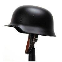 WW2 German M35 Steel Helmet WW II M35 German Repro Helmet Safety Motorcycle Bike World War 2 Steel Helmet