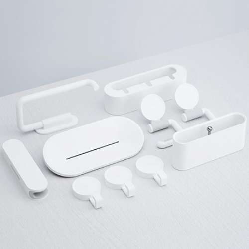 happy life Simple Storage Convenience Bathroom Set from Xiaomi youpin 7pcs image