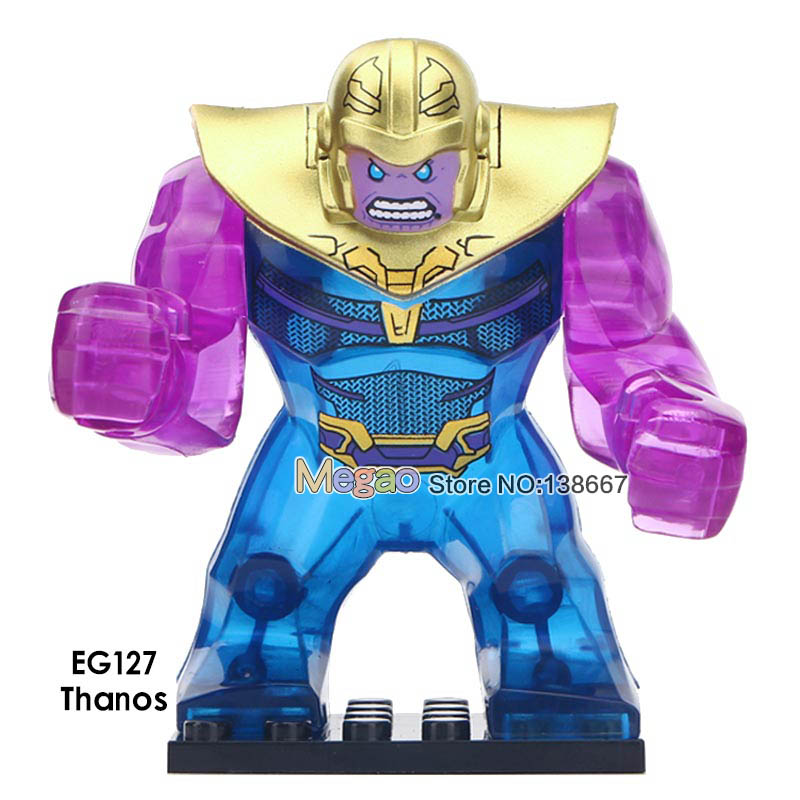 20PCS LOT Marvel Super Heroes Crystal Thanos Venom Carnage Big Size Building Blocks Gift Toys for