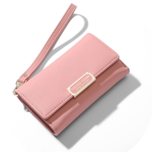 цена на Forever Young Women's Wallet Korean Version Clutch Bag Buckle Wallet Short Wallet Purse