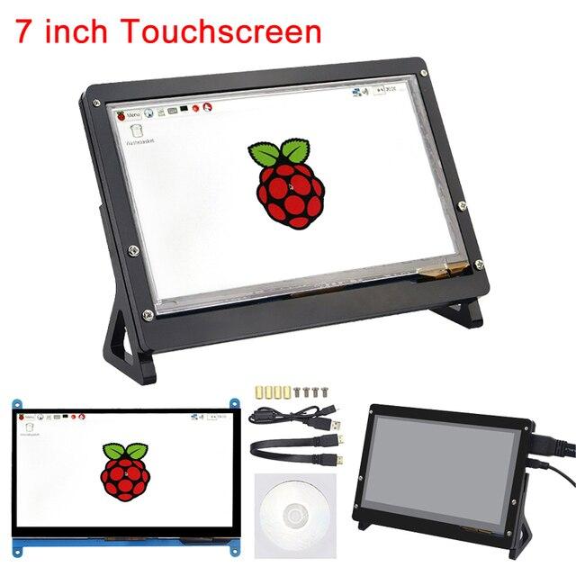 7 дюймов Raspberry Pi 3B + сенсорный экран 1024*600/800*480 ЖК Дисплей HDMI интерфейс TFT мониторы модуль для Raspberry Pi 3 Model B