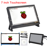 7 Inch Raspberry Pi 3 Touch Screen 1024*600 / 800*480 LCD Display HDMI Interface TFT Monitor Module for Raspberry Pi 3 Model B