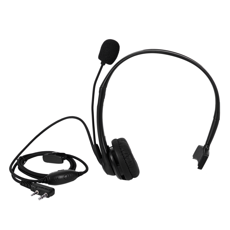 2 PIN PTT Mic Headphone Headset for KENWOOD RETEVIS BAOFENG UV5R 5R/888S