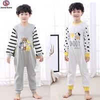 Onesie Kids Pajamas Boys Nightgown Cow Pyjama Bear Pyjamas Kids Sleepwear 100% Cotton Pyjamas Stripe Cartoon 1 12Y