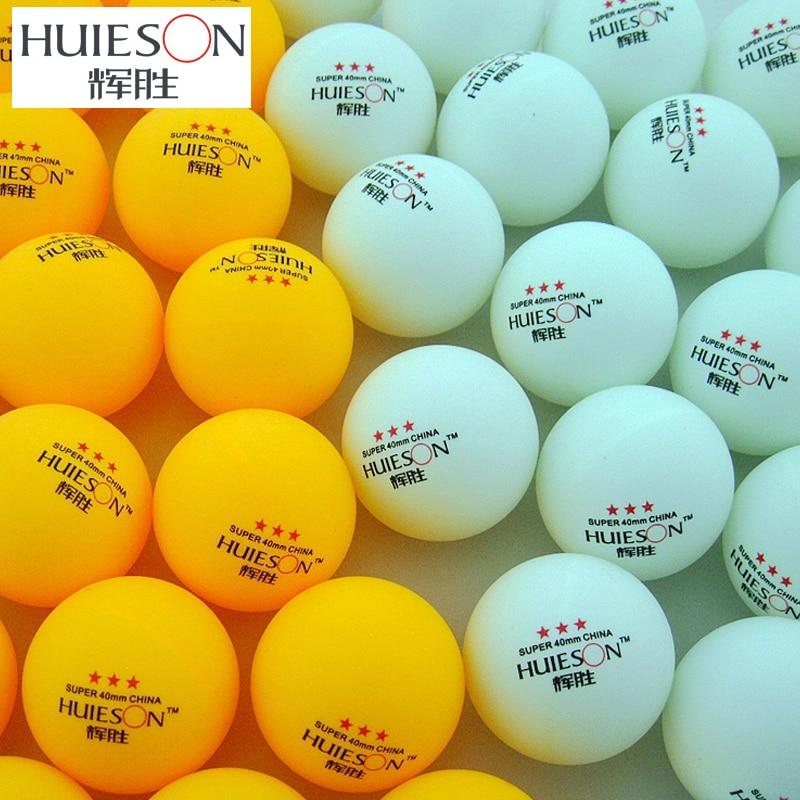 100Pcs//Pack 3 Star 40mm Table Tennis Balls Ping Pong Practice Balls Yellow