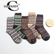 Comfortable Tube Winter Warm Men Thicken Pack of Breathable Middle Casual Multicolor Socks