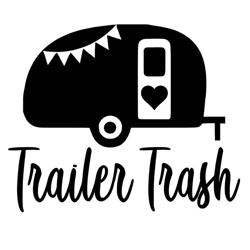 Trailer Trash Camper Fashion Personality Humour Funny Vinyl Decor Decals Car Styling Stickers diffuseur arrière carbone bmw x4 f26