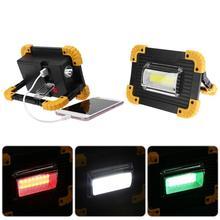 Перезаряжаемая портативная наружная рабочая лампа Светодиодный прожектор для кемпинга зарядка через usb/питание от батареи 20 Вт 400лм многофункциональная