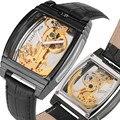 Мужские часы Топ бренд класса люкс все выдалбливают механические часы само ветер светящиеся паровой-панк стиль механические наручные часы