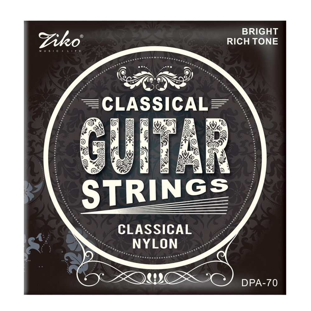 Ziko Dpa-70 Classical Guitar Strings Nylon Core Silver Plated Copper Wound High Tension