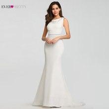 Vestido De boda De encaje De talla grande 2019 sirena sin mangas cuello redondo Vestidos De Novia 2019 siempre bonito vestido De Novia elegante Vestidos De graduación