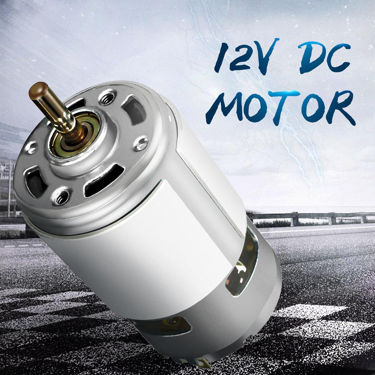 DC 12 V 100 W 1300015000 RPM 775 motor de alta velocidad de torsión grande DC motor eléctrico herramienta maquinaria eléctrica