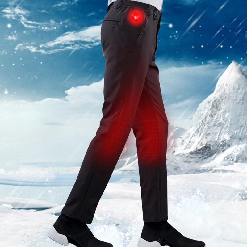 Hiver randonnée en plein air pantalons chauffants pantalons résistant à l'usure pantalons élastiques 3 Mode USB charge pantalons chauffants vêtements chauffants