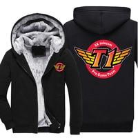 LOL 2018 LCK SKT T1 Hoodies & Sweatshirts Team Jersey SK Telecom T1 SKTT1 Baseball Coat Men Faker Peanut Bang Coats