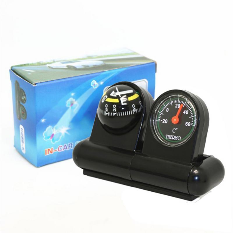2 в 1 направляющий шар автомобильный компас термометр Автомобильный Стайлинг автомобильный орнамент направление приборной панели шар Авто ...