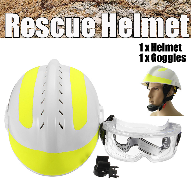 Rescue Helmet For Fire Fighter & Protective Glasses Set China CAPF Safety Protector F2 Workplace Safety Supplies Safety Helmet