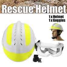 Rescue Helmet For Fire Fighter & Protective Glasses Set Chin