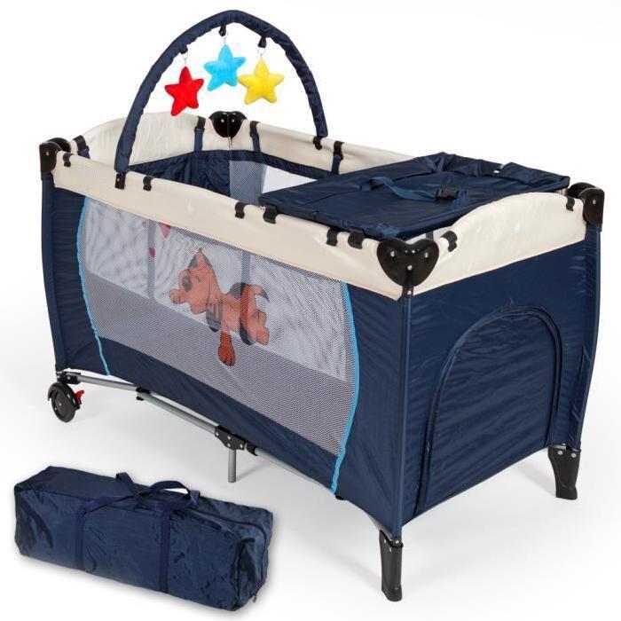 Lit de voyage bébé Portable pliant BeigeBaby lit de jeu Playard Pack jouer jouer bébé berceau couffin navire International HWC - 2