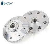 2 pcs/lot meuleuse d'angle accessoires lame de scie adaptateur Support filetage fixe M14 bride en aluminium pour diamètre 180mm 230mm|Accessoires pour outils électriques|   -