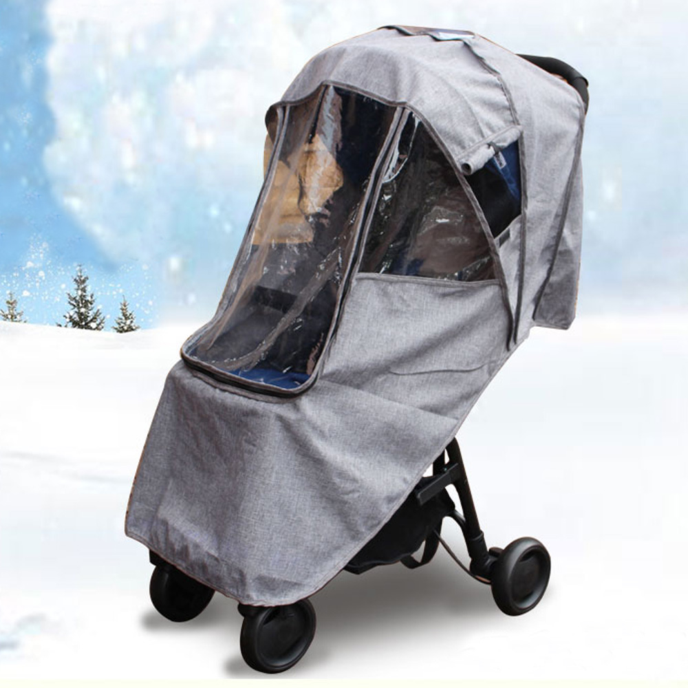 Warm Waterproof Snow Wind Rain Cover Baby Stroller Accessories Dust Shield Compatible For Babyzen YOYO or Universal chbaby babysing yoyo yuyu vovo umbrella car cart set winter cover against wind and snow to keep warm the feet